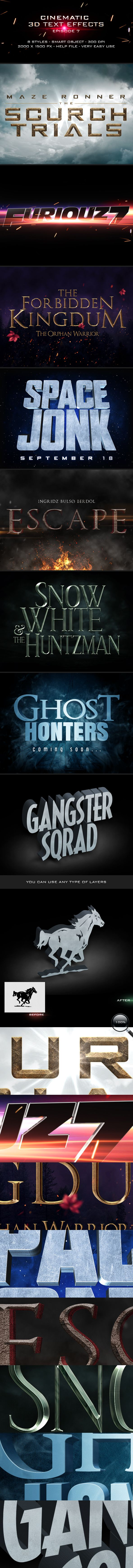 Mysterious poster design with 3d text - Cinematic Title Text Effects Vol 7
