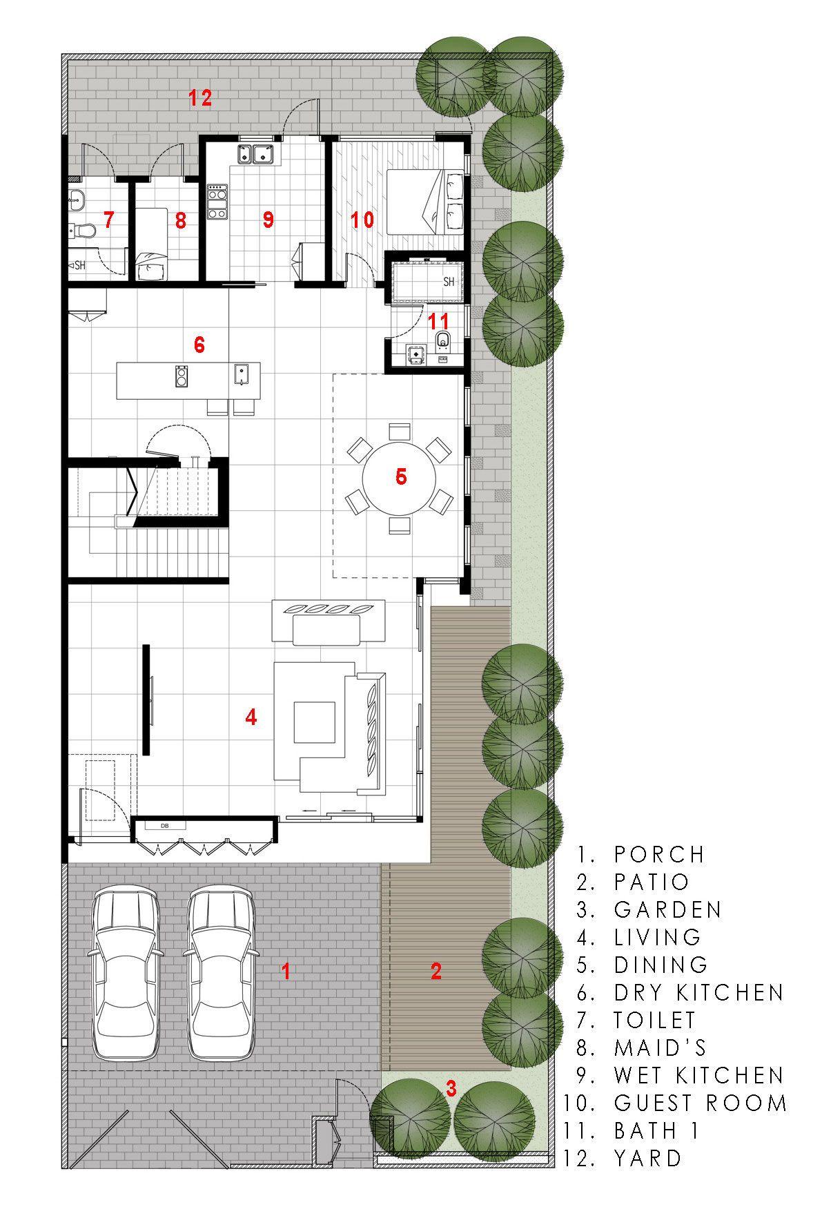 Diseño de casa moderna, armoniza varios materiales de construcción ...