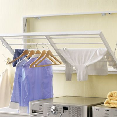 Laundry Room Shelves Ideas Create A Wall Hanging Clothes Rack