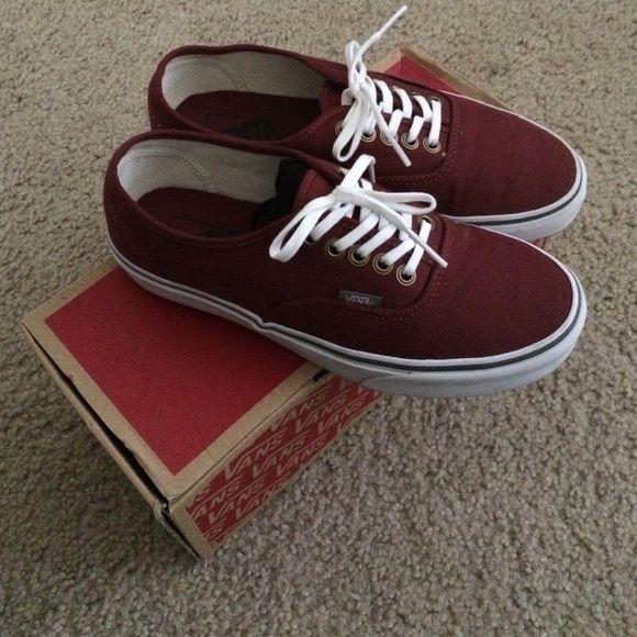 Burgundy vans, Cool vans shoes, Vans