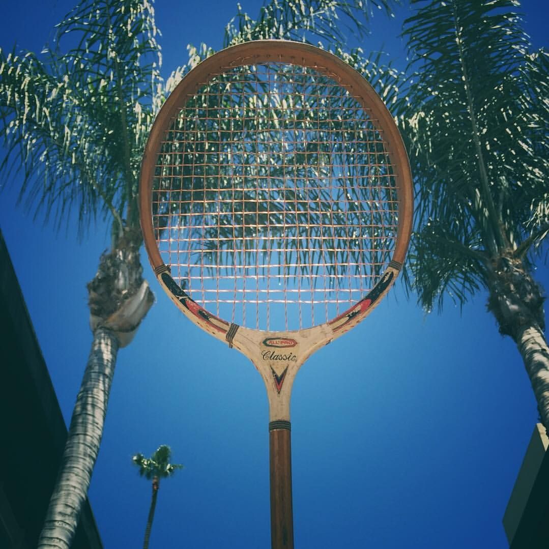 Sun S Out Rackets Out Vintage Racket Listed Now Thegoodindoors La Losangeles Tennis Court Racket Racquet Badminton R Rackets Tennis Art Racquetball