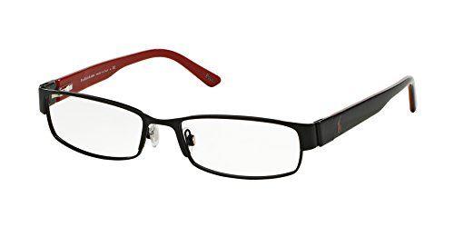 Polo PH1083 Eyeglasses Matte BlackBlack On Red 9038 54 mm -- Visit the image link more details.