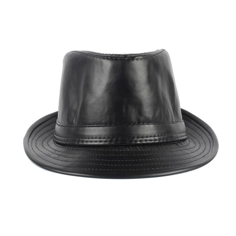 8539bc25080 Now This is a SMART Looking Fedora!!! Fashion Faux Leather Fedoras with  Boater