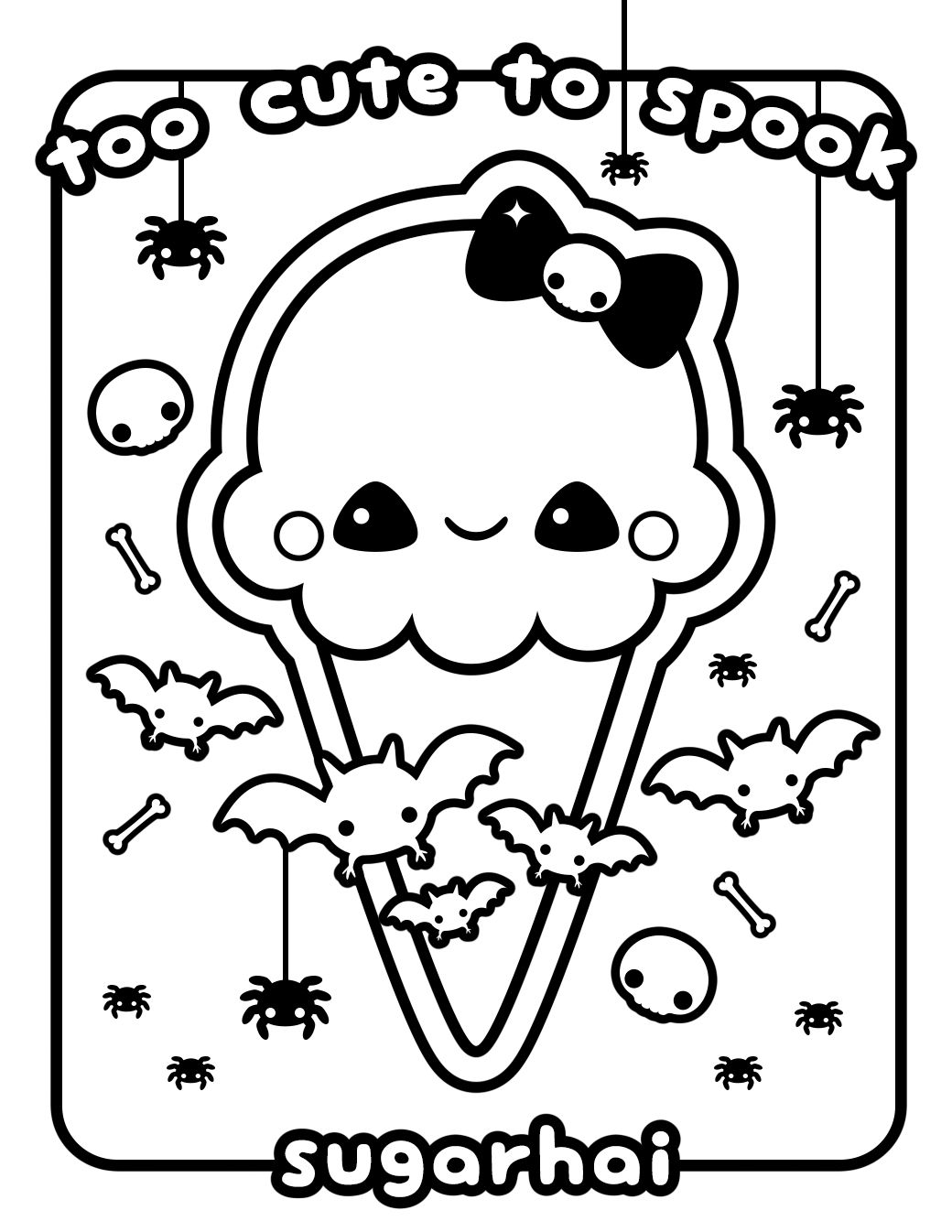 Printable Kawaii Coloring Pages Coloringsuite Free Coloring Pages Download Disney Coloring Pages Cute Coloring Pages Halloween Coloring