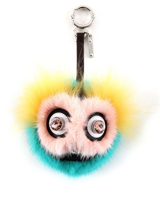 ddae234a7c Fendi Monster Ball Big Eyes Fur Charm, Pink/Yellow/Blue   *Neiman ...