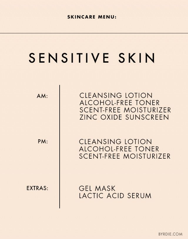 Daily Skincare Routine Sensitive Skin Sensitive Skin Care Daily Skin Care Skin Care