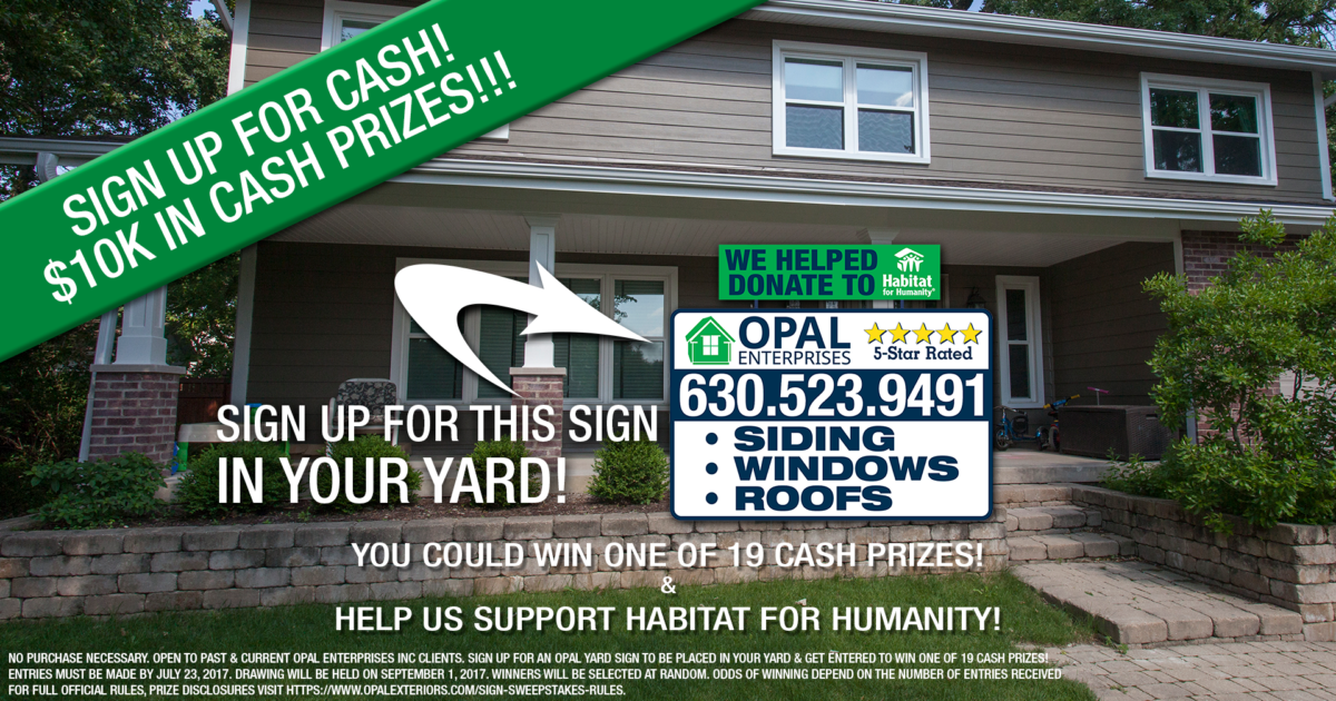 2017 Sign Up For Cash Sweepstakes Habitat For Humanity
