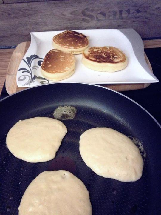 Dicke Pancakes   saftig und fluffig