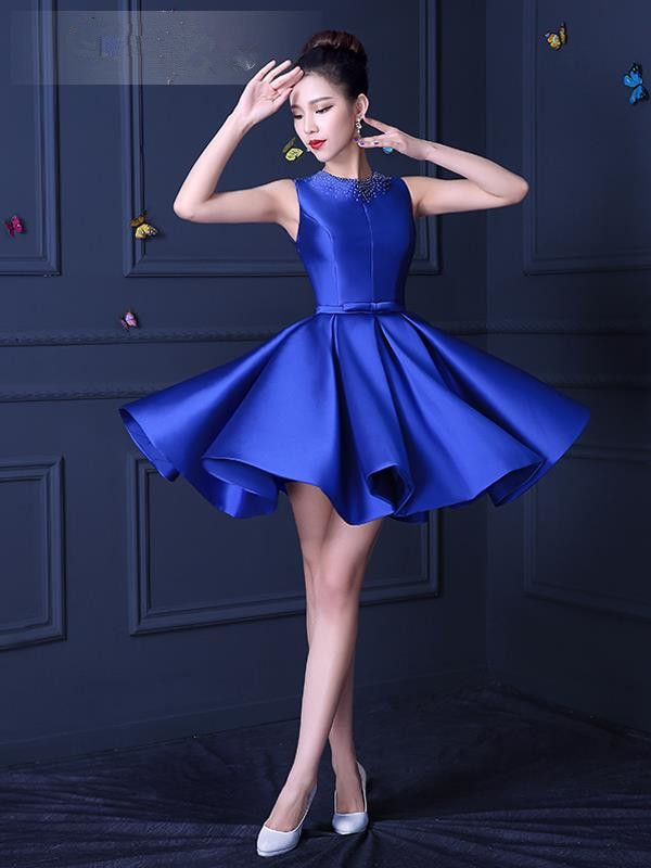 Cheap blue cocktail dress- Buy Quality royal blue cocktail dress ...
