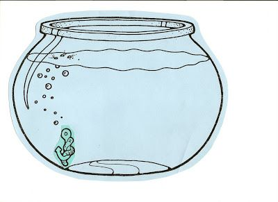 fishbowl clipart Empty Fish Bowl Coloring Sheet http