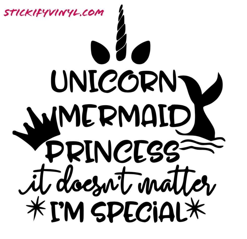 Unicorn Mermaid Princess Decal Cricut Cricut