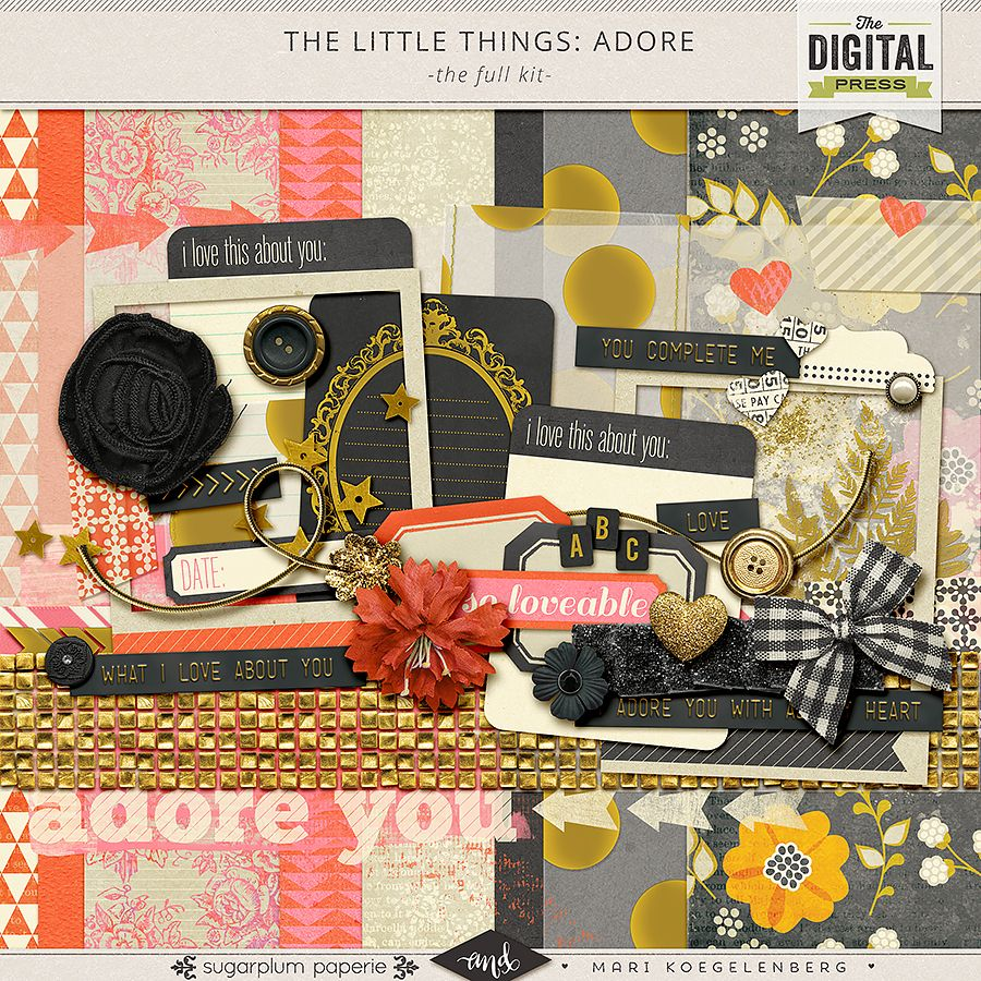 The Little Things by Mari Koegelenberg and Sugarplum Paperie is a digital scrapbooking collection that's perfect for celebrating the people you love the most.
