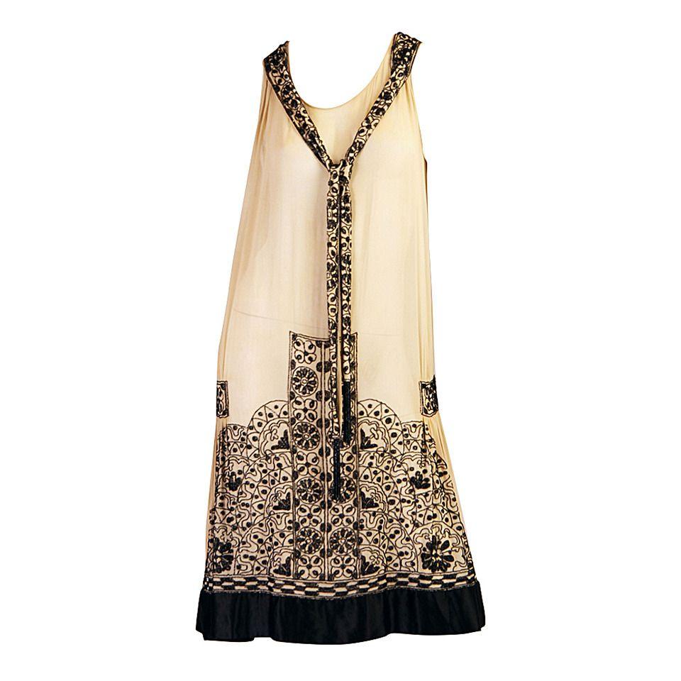 Very Fine 1920s Art Deco Beaded Evening Dress | 20er jahre, Gewand ...