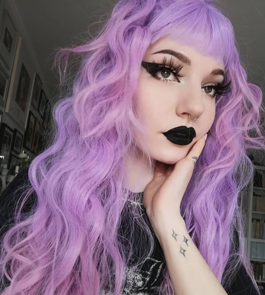 Pin By Abha On Egirl Aesthetic In 2020 Purple Hair Wigs Full Makeup