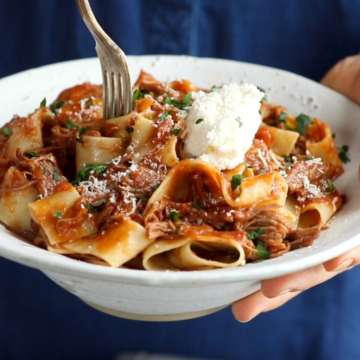 Slow Cooker Beef Ragu with Pappardelle - meat - #Beef #Cooker #meat #Pappardelle #Ragu #Slow