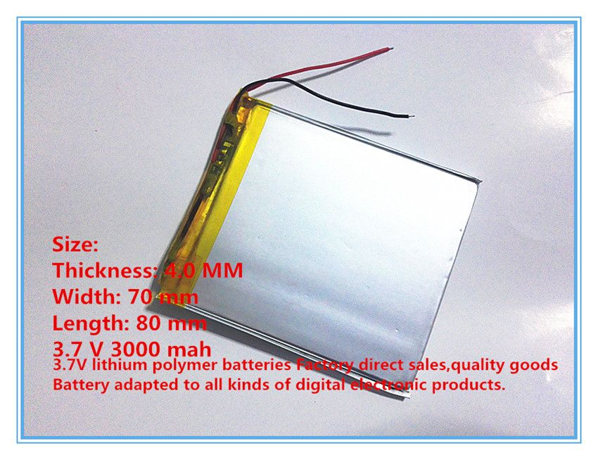 Free Shipping Original Li Ion Battery 3 7v 2500mah Lithium Polymer Battery For Mp3 Gps Nav 407080 In Digital Battery From Consumer Electronics On Aliexpress Com