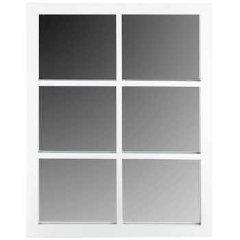 White Six Pane Mirror Family Room Walls White Rooms Window