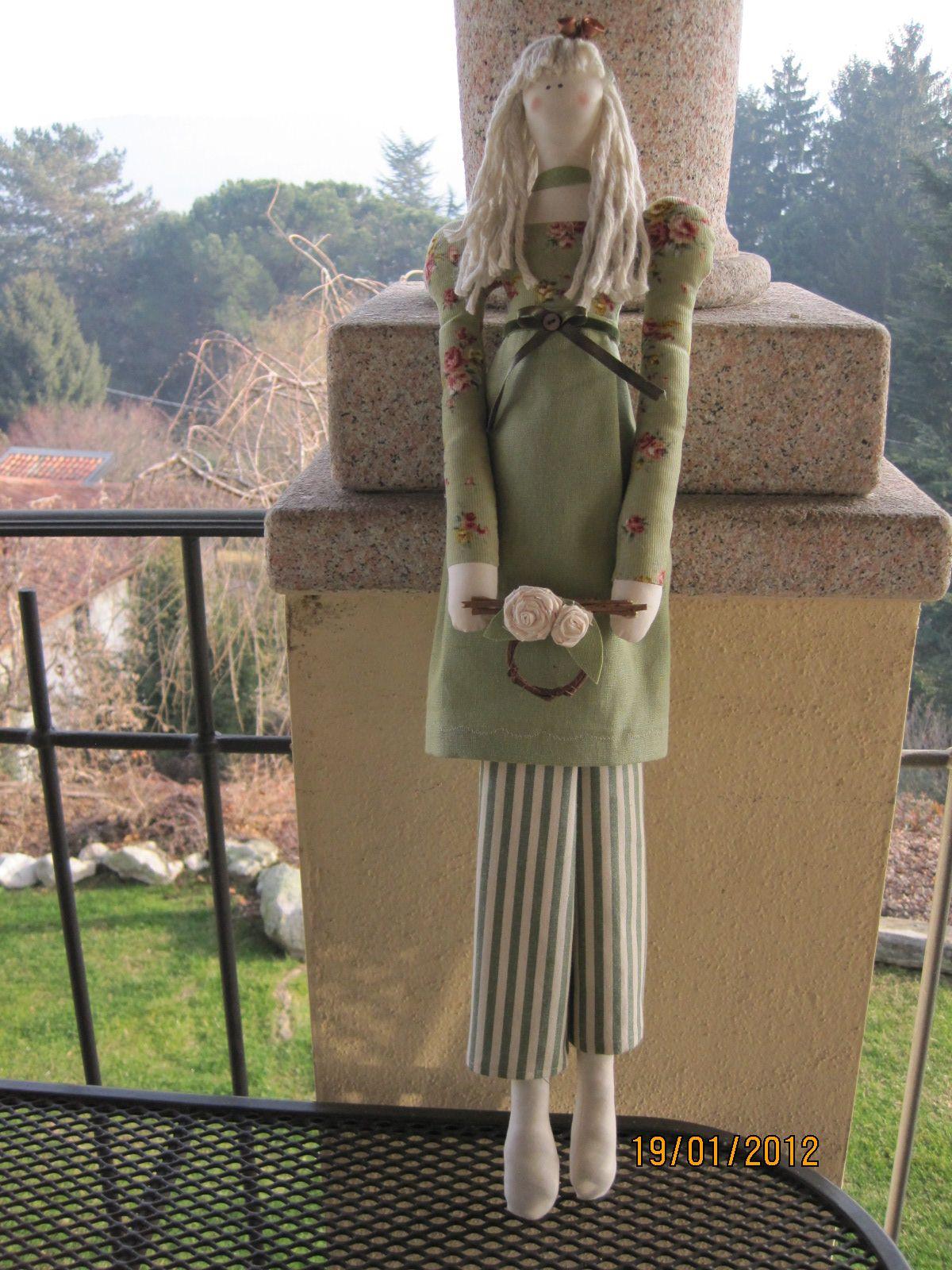 Tilda doll green dress