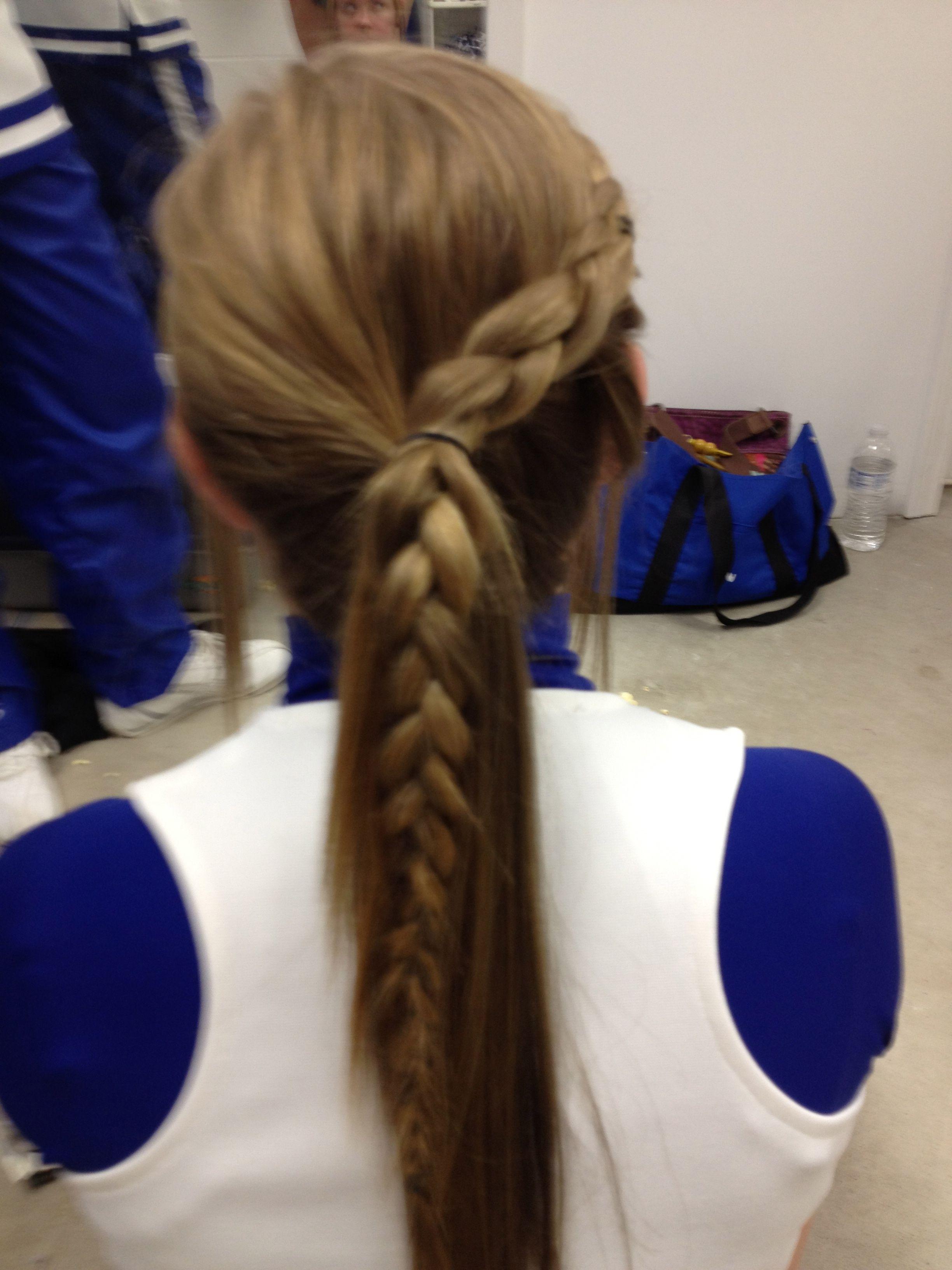 Cute volleyball hair hair pinterest cheer cheer hair and