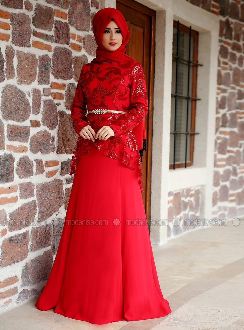 Peplum Evening Dress - Red - Zehrace | Clothes | Pinterest | Dress ...