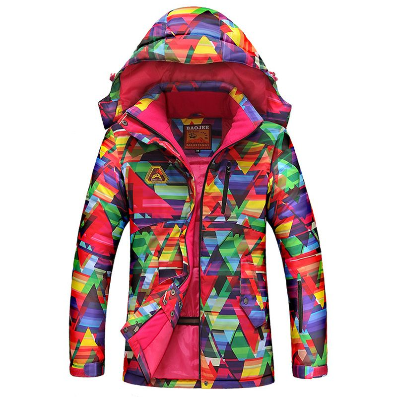 b8ae50ede2 2017 New Women s Ski Jacket Waterproof Breathable Winter Thick Warm Outdoor  Mountaineering Mens Jackets Ski Skiing