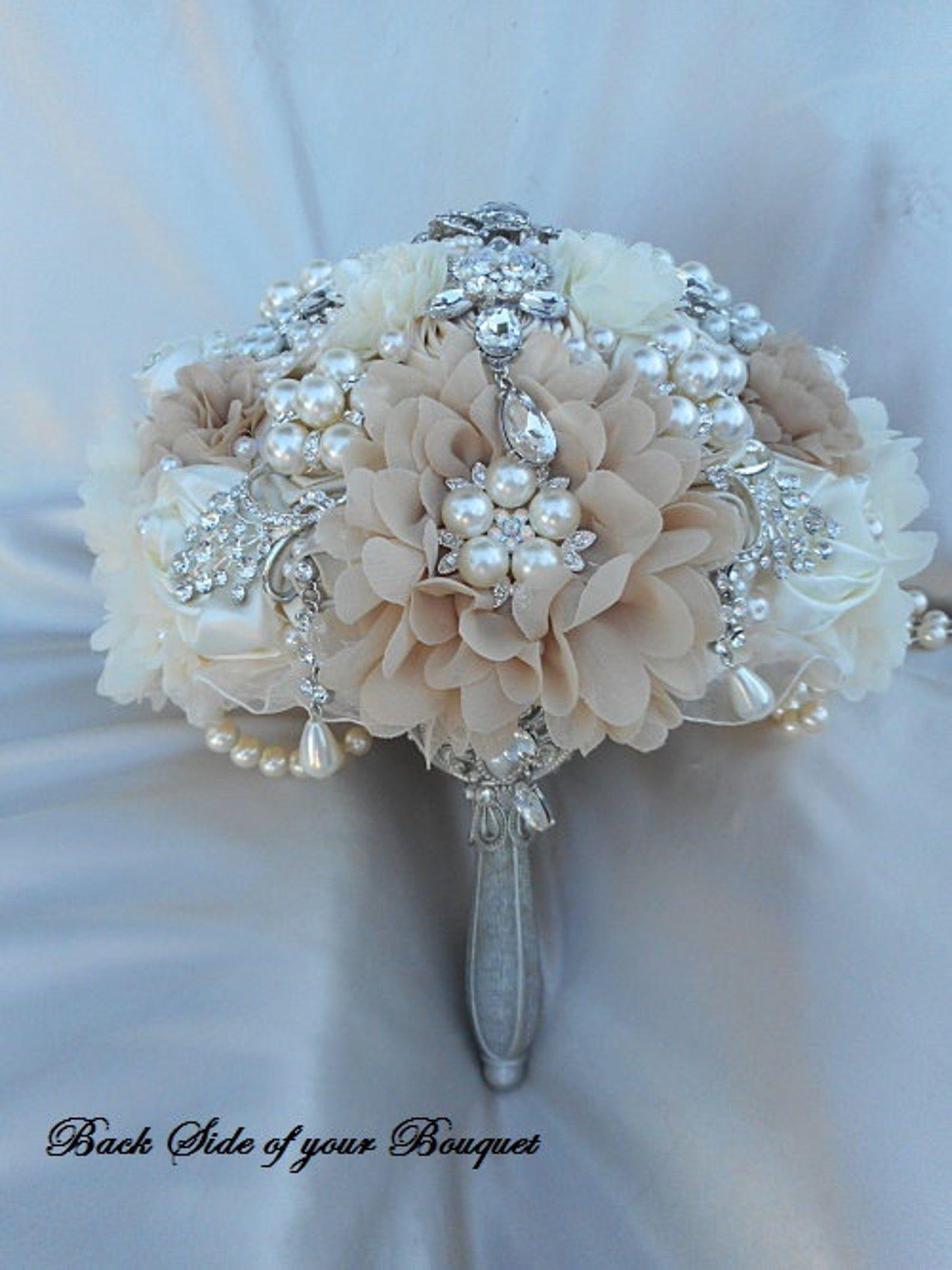 Vintage Style Wedding BROOCH BOUQUET Custom Cascading