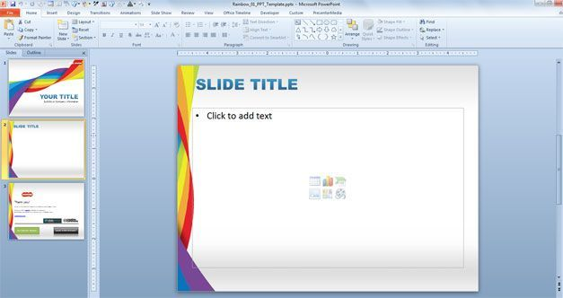 free rainbow powerpoint template for health and dna presentations, Powerpoint templates