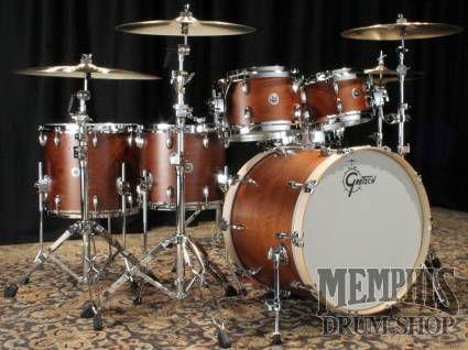 Gretsch Brooklyn Series Drum Set Satin Mahogany Drums Gretsch Drums Drum Set