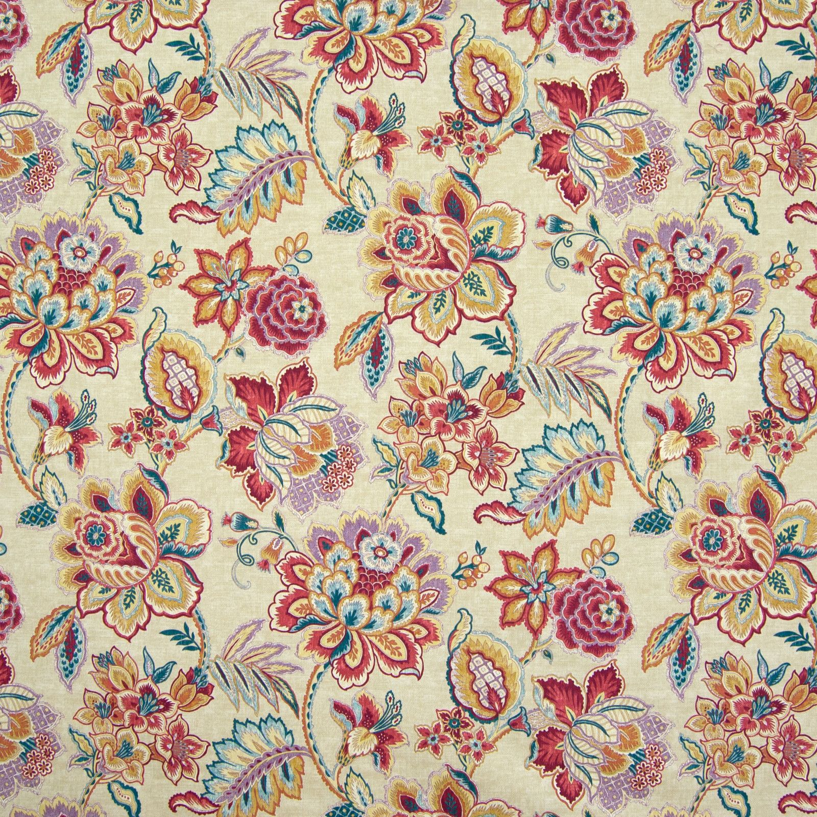 Oriental Floral Design 100/% Cotton Fabric FQ Crafting Quilting Patchwork Blue