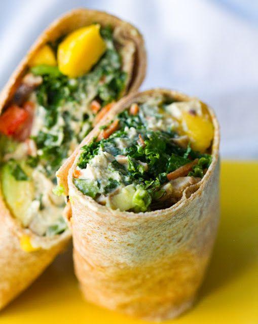 Kale Hemp Hummus Wrap by healthyhappylife #Wrap #Kale #Hemp #Hummus #healthyhappylife