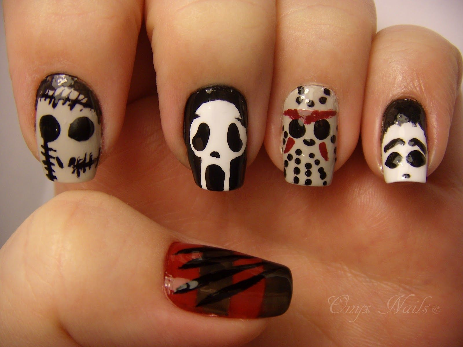 Slasher Nails: Freddy (Thumb), Leather Face (Tx Chainsaw Massacre ...
