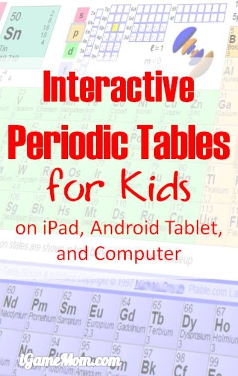 8 Interactive Periodic Tables With Names Charges And Other Information On  IPad, Android Tablet, And Computers, Great Chemistry Learning Tools For  Kids From ...