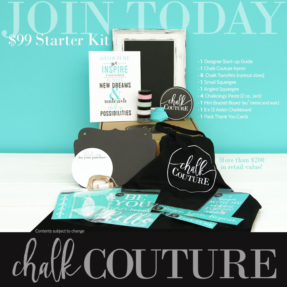 Join my team! Chalk Couture Starter Kit for only $99! Look ...