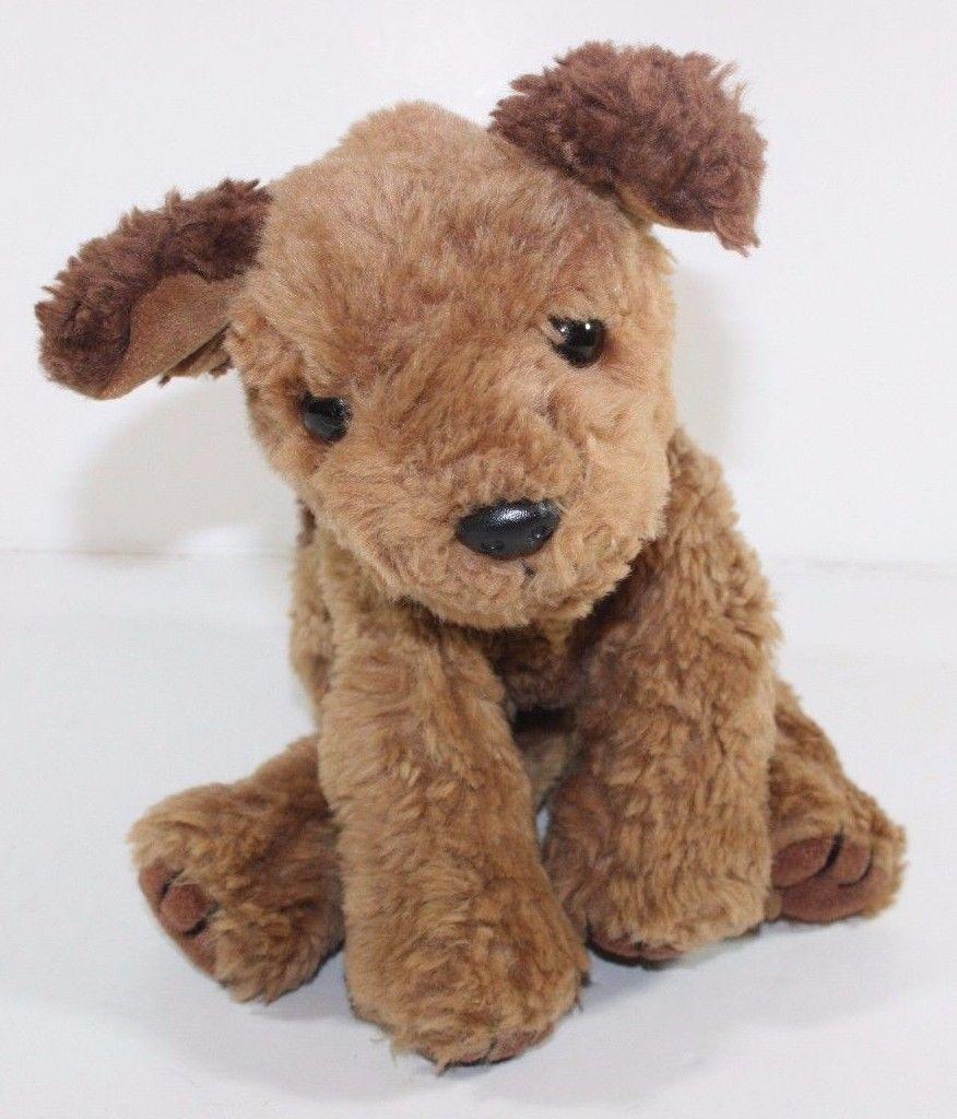 Ty Classic Chips Dog Brown Tan Plush Puppy Beanie 10 Stuffed Animal