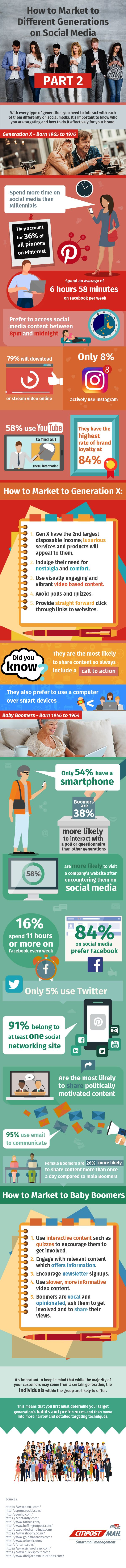 How to Market to Generation X and Baby Boomers on Social Media (infographic)