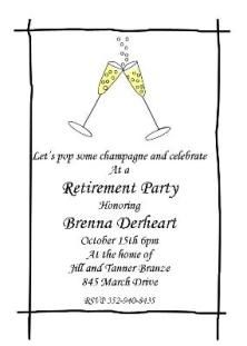 17 Best images about Retirement Party Invites on Pinterest ...