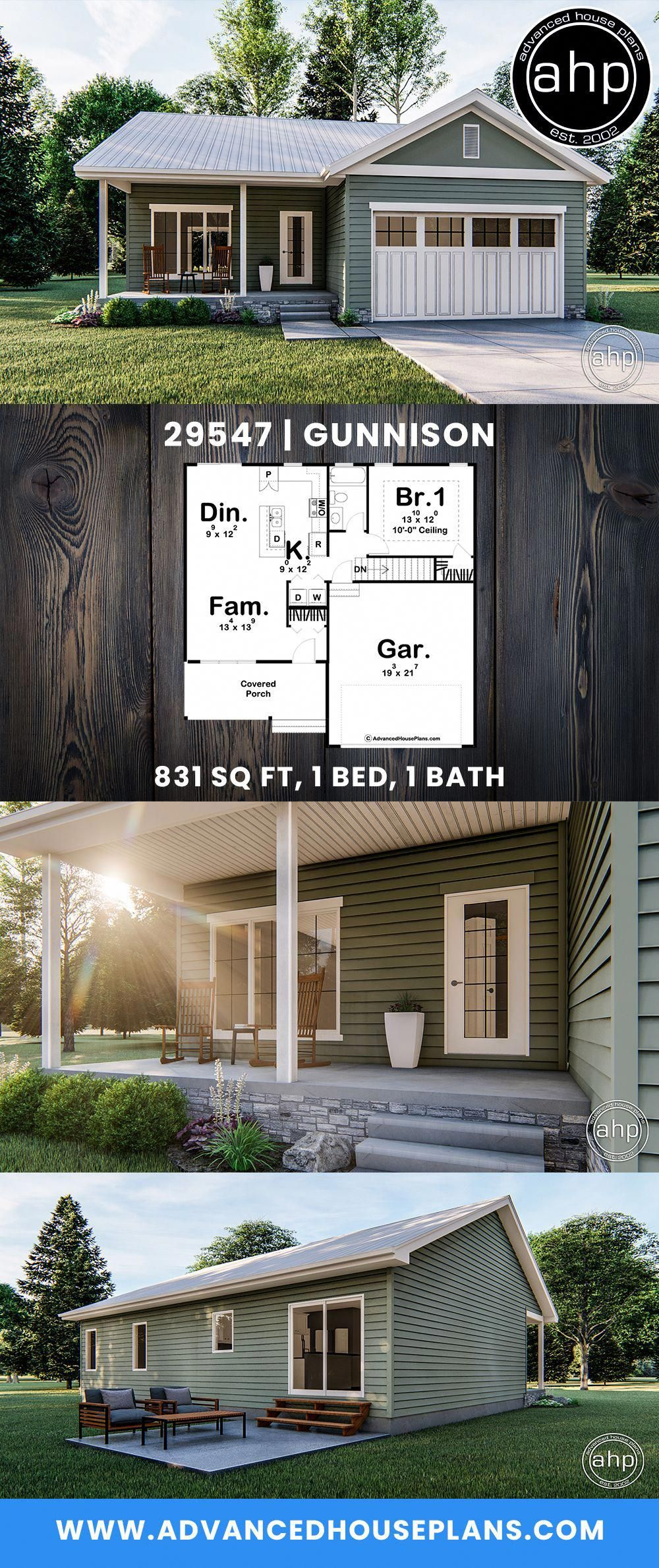 Southern Style 3 Car Garage Apartment Plan Number 58248