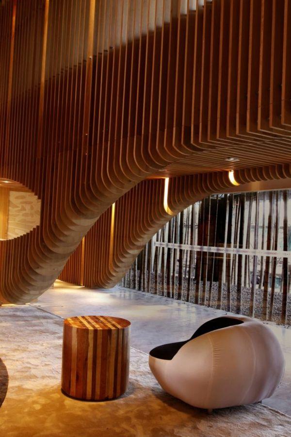 wandverkleidung aus holz ideen f r den innen und den au enbereich wandverkleidung kreative. Black Bedroom Furniture Sets. Home Design Ideas
