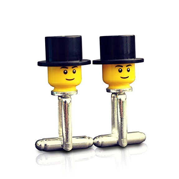LEGO ® Top Hat Cufflinks Wedding, Groom, Best man, Usher, Groomsmen, Mens Gift