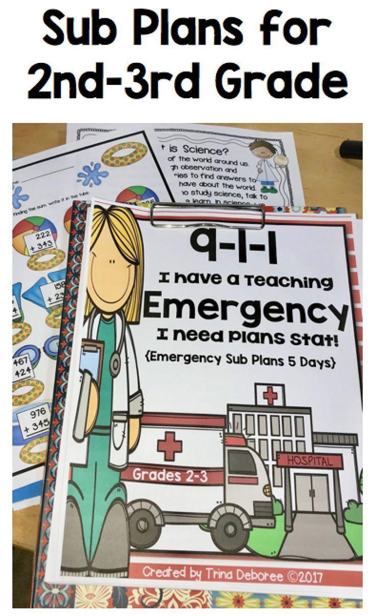 Emergency Sub Plans for 2nd-3rd-Grade Teachers #emergencysubplans