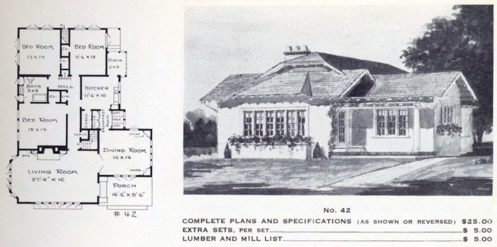 A New Take An Old House Plan For Today s Lifestyle A floor plan from a Leila Ross Wilburn pattern book The Made Home