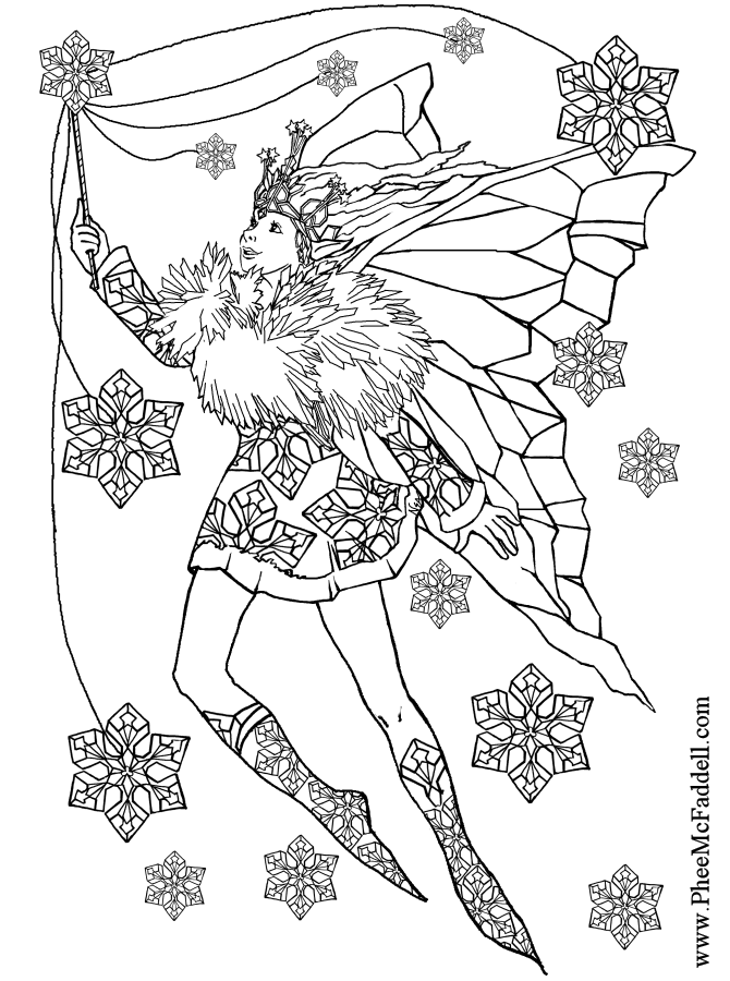 Fairies Coloring Pages Adult
