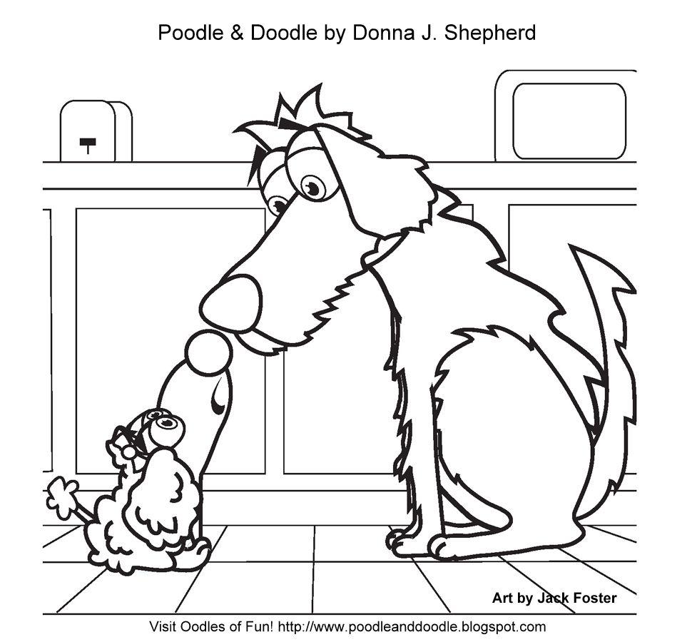 Printable Doodle Dog Coloring Page Labradoodle Art Sheet
