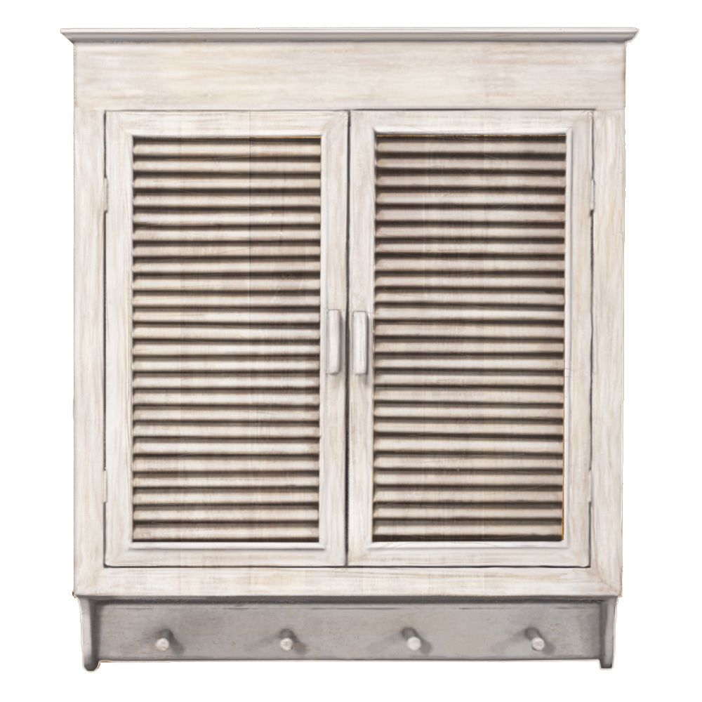 Bath · This Elegant Louvered Wall Cabinet ...