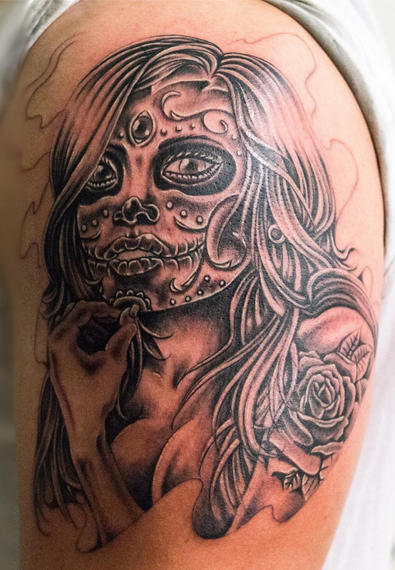 Chicano Chick In Progress Jayvee Chicano Sugarskull