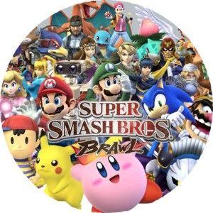Super Smash Bros Brawl 7 Edible Photo Cake Topper