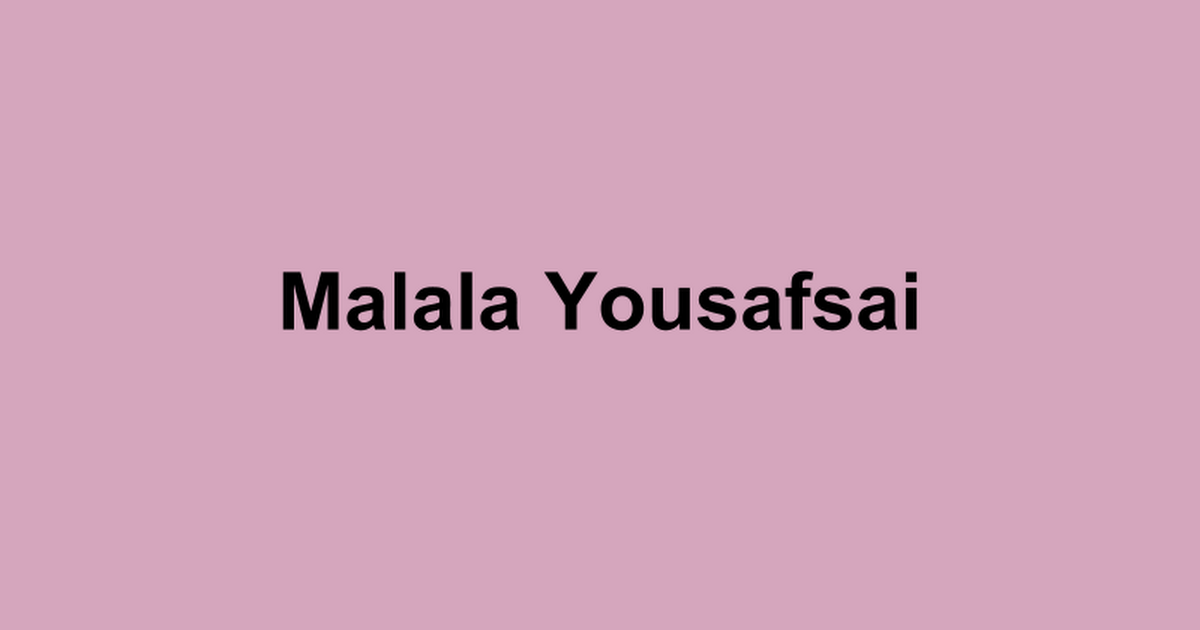 Malala Yousafsai. Grej of the Day Mini-lesson. Nobel Prize 2014