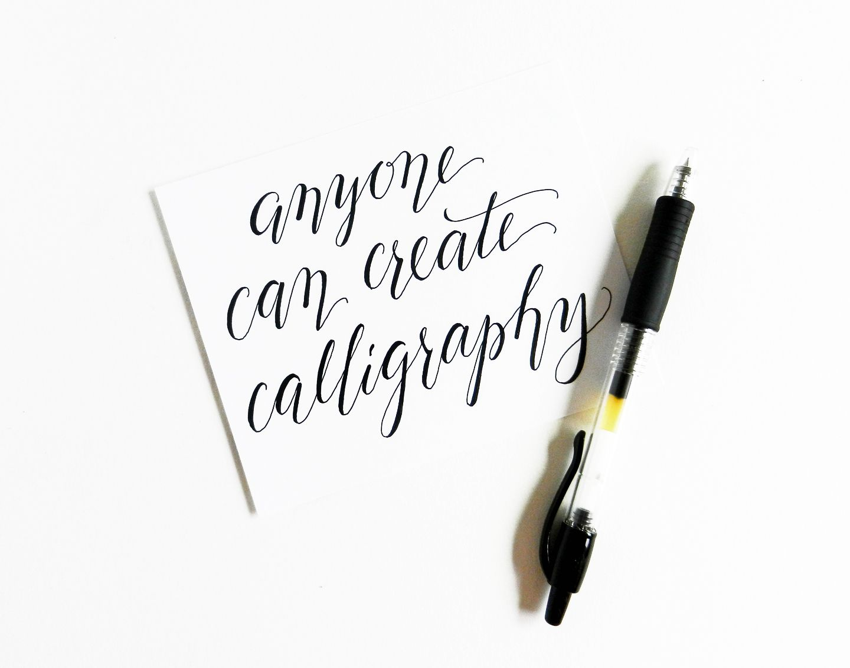 Faux Calligraphy Tutorial Cursive