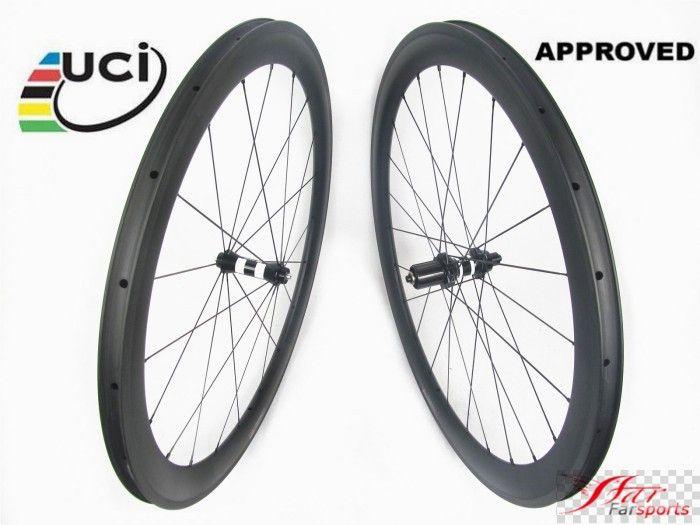 25mm Width U Shape 38mm clincher carbon bike rim 700C carbon fibre rimset