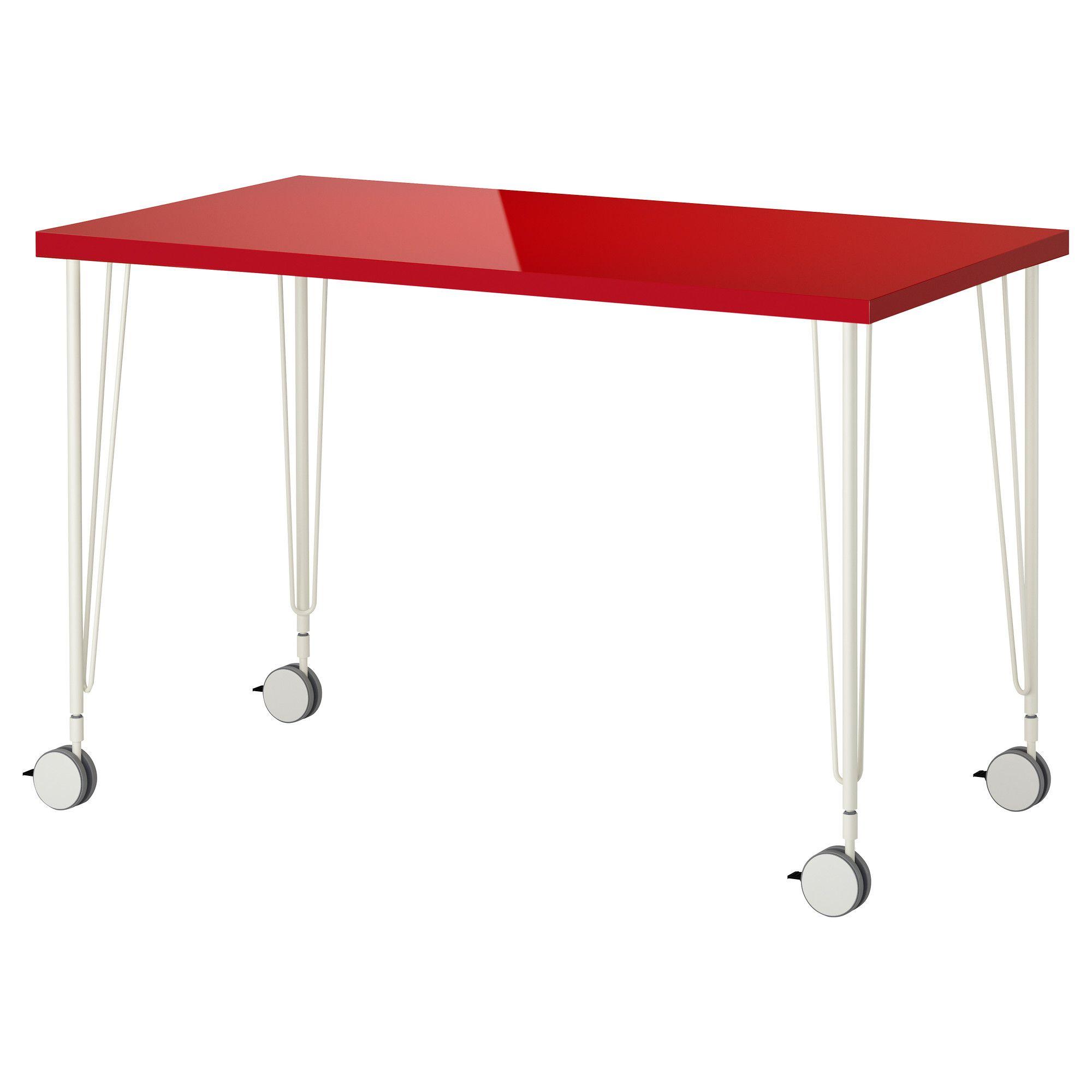Linnmon Krille Table Ikea Study Pinterest Art